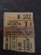 Fillmore East Ticket Stub