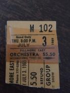 Fillmore East Ticket Stub