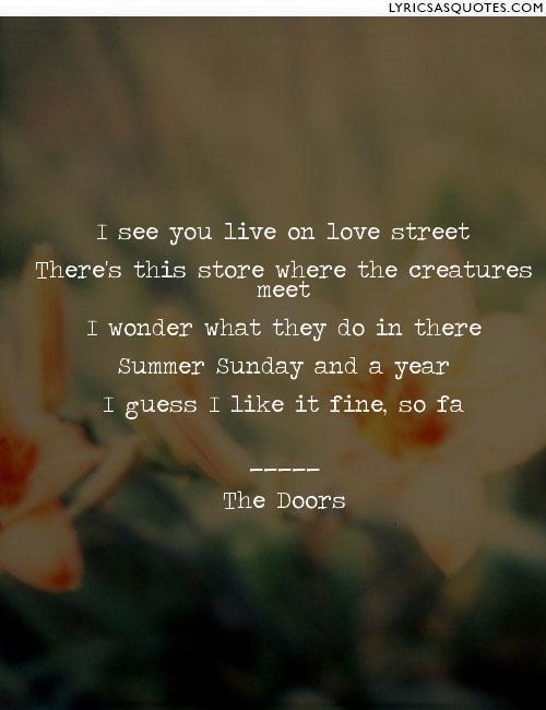 Love Street Lyrics